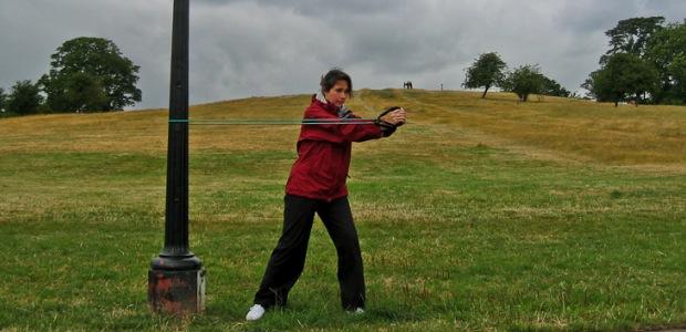 Bodytoning exercises on Primrose Hill