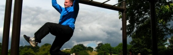 Outdoor Work Out - monkey bars traverse
