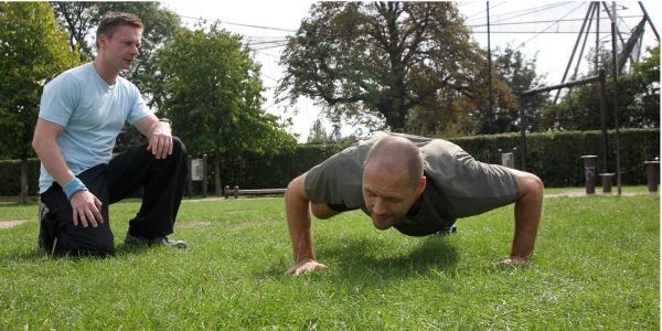 Fitness testing to check a client's progress