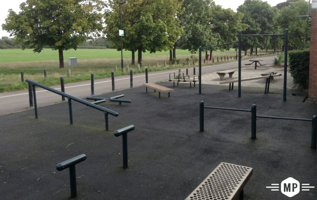 Outdoor fitness at London bar park