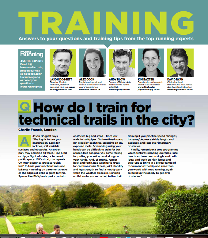 trail running advice for city dwellers
