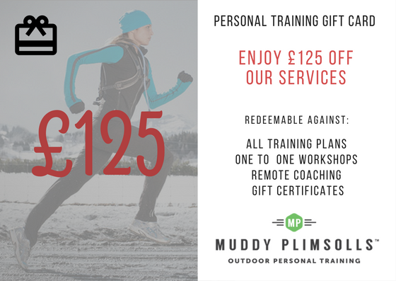 Muddy Plimsolls personal training gift card