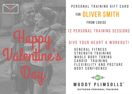 Valentine gift personal training gift card