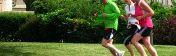 Proper Running Form, as demonstrated by runners in London's Regents Park