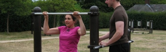 Workout Plan for beginners, alongside personal trainer