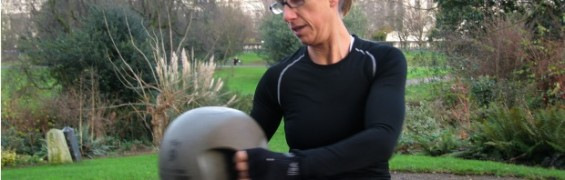 Core exercises with medicine ball