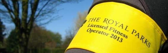 Royal Parks fitness license - official fitness operator's yellow armband